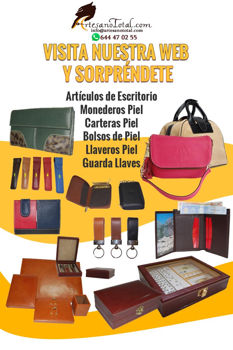 productos piel alta calidad carteras, bolsos, monederos, llaveros piel