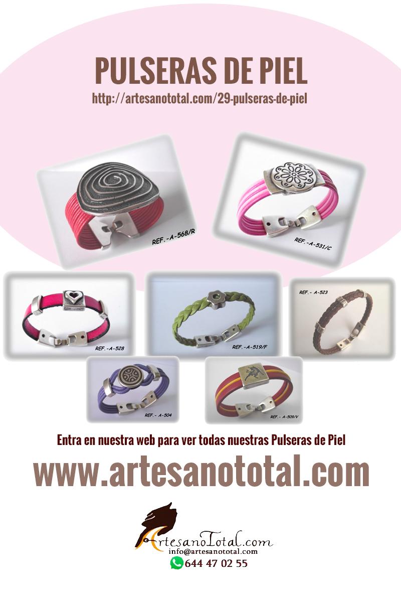 pulseras artesanales de piel