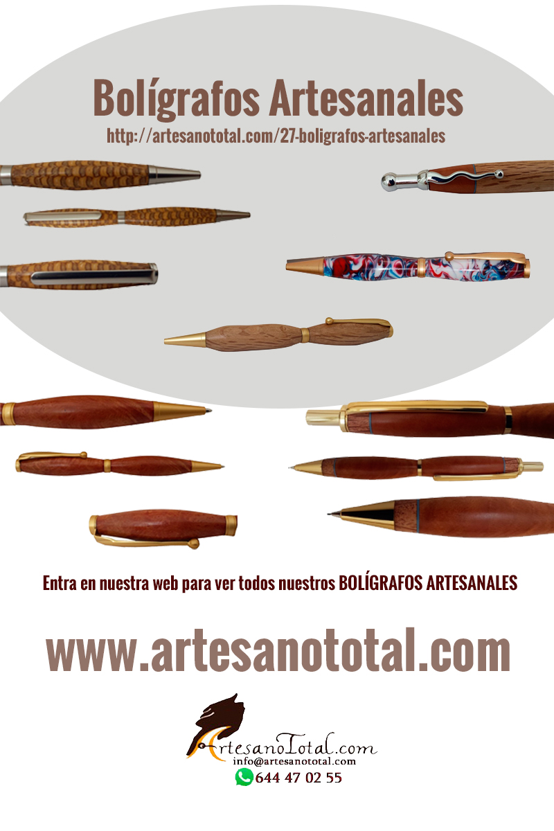 boligrafos artesanales madera