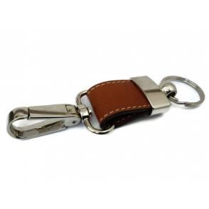 Llavero de cuero para colgar en el cinturón.