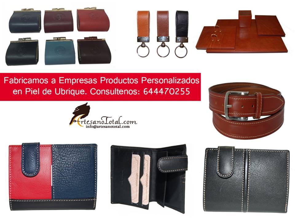 Productos personalizados en Piel de Ubrique.